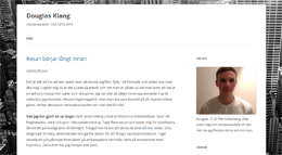 Douglas Klangs blogg