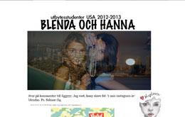 Blenda och Hannas blogg