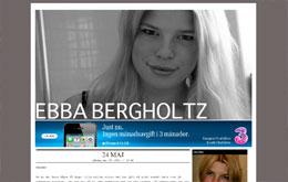 Ebba Bergholtzs blogg