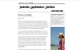 Isabella Hedströms blogg