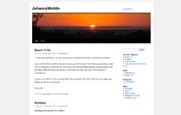 Johanna Wohlins blogg