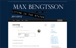Max Bengtssons blogg