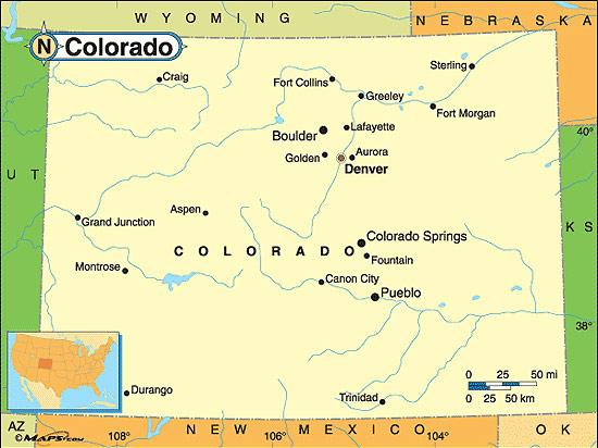 Colorado Fakta Om Colorado Amerikanska Stater