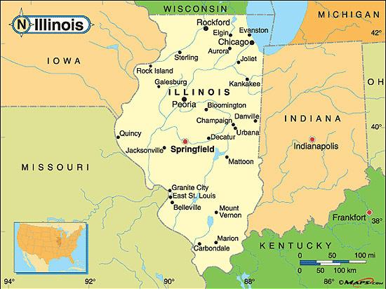 Illinois Fakta Om Illinois Amerikanska Stater