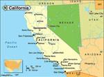 Kalifornien karta