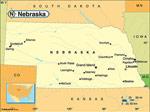 Nebraska karta