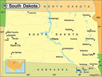 South Dakota karta