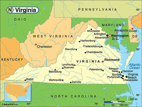 Virginia Fakta Om Virginia Amerikanska Stater