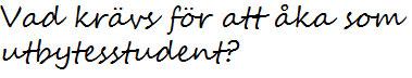 Vad krävs för att få åka som utbytesstudent?